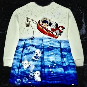 "Mayoral ""the fishing trip"" Ombre Long Sleeve Dress"